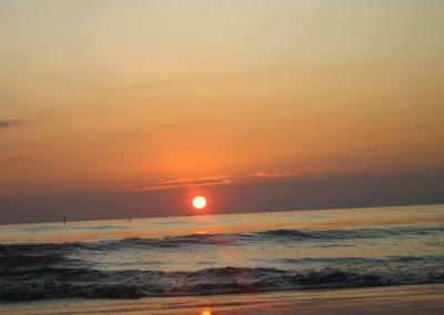 Sunset in sea beach in bangladesh