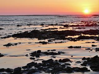 st.martins island sunset