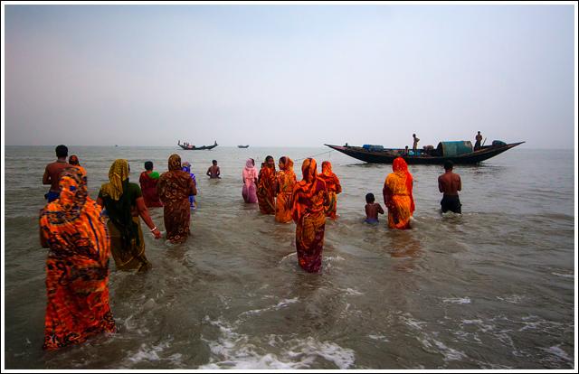holy bath in rash mela in Sundarban
