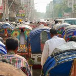 A busy old dhaka road